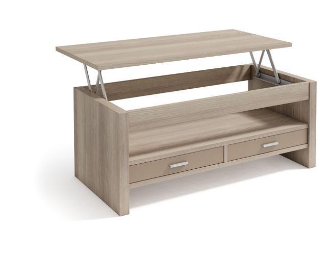 Mesa Elevable con cajones