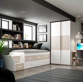 Dormitorio Completo con Escritorio